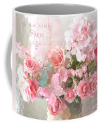 Paris Shabby Chic Dreamy Pink Peach Impressionistic Romantic Cottage Chic Paris Flower Photography Coffee Mug