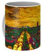 Paris Skyline Pop Art Coffee Mug