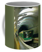 Paris Train In Fisheye Perspective Coffee Mug