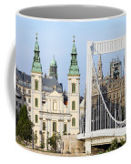 Parish Church And Elizabeth Bridge In Budapest Coffee Mug