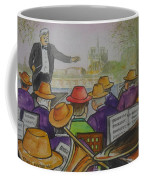 Parisian Hat Band Across From Notre Dame Cathedral Coffee Mug