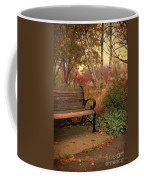 Park Bench In Autumn Coffee Mug