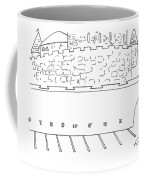 Parking Lot Outside Of A Castle. The Parking Coffee Mug