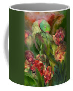 Parrot In Parrot Tulips Coffee Mug