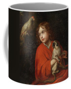 Parrot Watching A Boy Holding A Monkey Coffee Mug