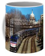 Passenger Metro Train With Us Capitol Coffee Mug
