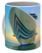 Passing Cruise Ships At Sunset Coffee Mug