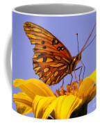 Passion Butterfly On The Mexican Sunflower Coffee Mug