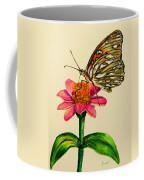 Passion Butterfly On Zinnia Coffee Mug