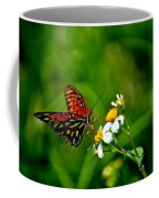 Passion Butterfly Painted Coffee Mug