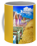 Pastel Beach Huts 2 Coffee Mug
