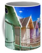Pastel Beach Huts 3 Coffee Mug