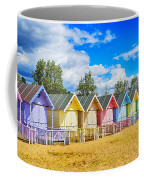 Pastel Beach Huts Coffee Mug by Chris Thaxter