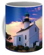Pastel Drawing Old Point Loma Lighthouse Cabrillo National Monument California Coffee Mug