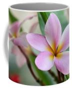Pastel Pink Plumeria Coffee Mug