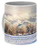 Pasture Land Covered In Snow With Taos Coffee Mug