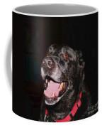 Patchwork Black Lab Smiling Coffee Mug