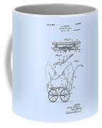 Patent Art Robinson Baby Carriage Blue Coffee Mug