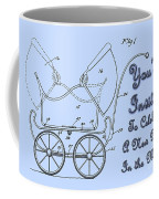 Patent Art Robinson Baby Carriage Invite-blue Coffee Mug