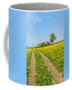 Path In Dandelion Meadow  Coffee Mug
