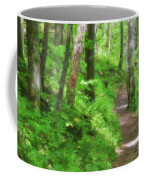 Path In The Forest Coffee Mug by Jill Lang