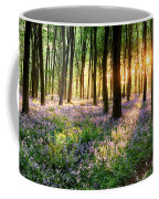 Sunrise Path Through Bluebell Woods Coffee Mug