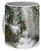 Path Through The Snow Coffee Mug