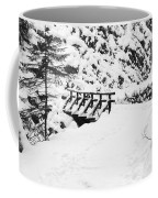 Pathway Through The Snow Coffee Mug