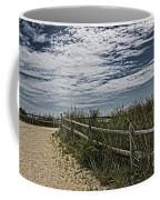 Pathway To The Sea Coffee Mug by Tom Gari Gallery-Three-Photography