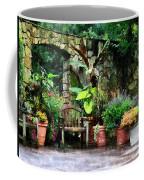 Patio Garden In The Rain Coffee Mug
