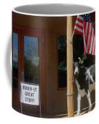 Patriotic Cow Cave Creek Arizona 2004 Coffee Mug