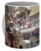 Patriotic Cowgirls Firetruck July 4th Parade Prescott Arizona 2002 Coffee Mug