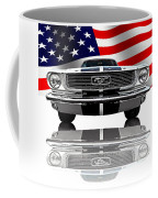 Patriotic Ford Mustang 1966 Coffee Mug