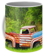Patriotic Truck Coffee Mug