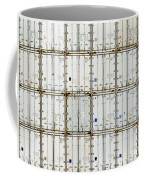 Pattern Of Shipping Container Stack At Depot Coffee Mug