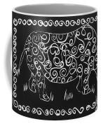 Patterned Rhino Coffee Mug