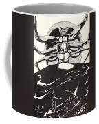 Pau Amma The Crab Rising Out Of The Sea As Tall As The Smoke Of Three Volcanoes Coffee Mug