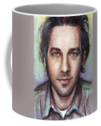 Paul Rudd Portrait Coffee Mug by Olga Shvartsur
