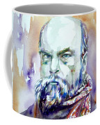 Paul Verlaine - Watercolor Portrait.1 Coffee Mug