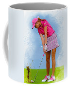 Paula Creamer In Actionon The Evian Masters Coffee Mug