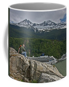 Pause In Wonder At Cruise Ships In Alaska Coffee Mug by John Haldane