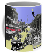 Paving East Congress In Tucson 1913 The Year Villa Visited Tucson Coffee Mug