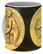 Pawnee Nation Tribe Code Talkers Bronze Medal Art Coffee Mug