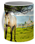 Payson Country Temple Oil Paint Texture Coffee Mug
