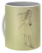 Girl Dancer At The Barre Coffee Mug