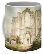 Pd.56-1958 West Front Of Castle Acre Coffee Mug