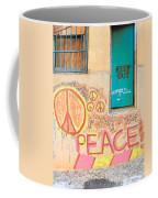 Hippie Graffiti - Peace But Keep Out Coffee Mug