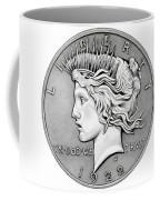 Graphite Peace Dollar Coffee Mug