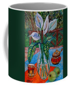 Peace Lilies On The Patio Coffee Mug