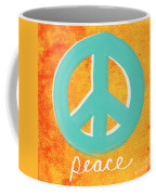 Peace Coffee Mug by Linda Woods